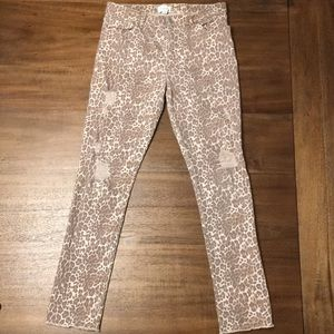 Children's Place Distressed Cheetah Print Jeggings